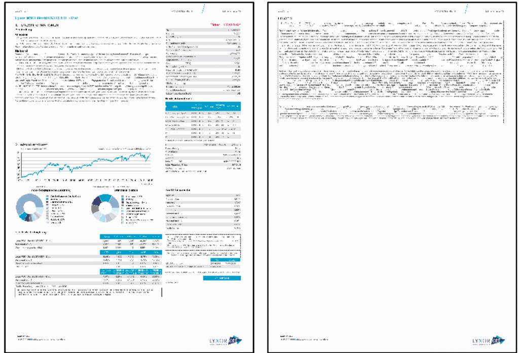 Beispiel eines Factsheets zum MSCI World