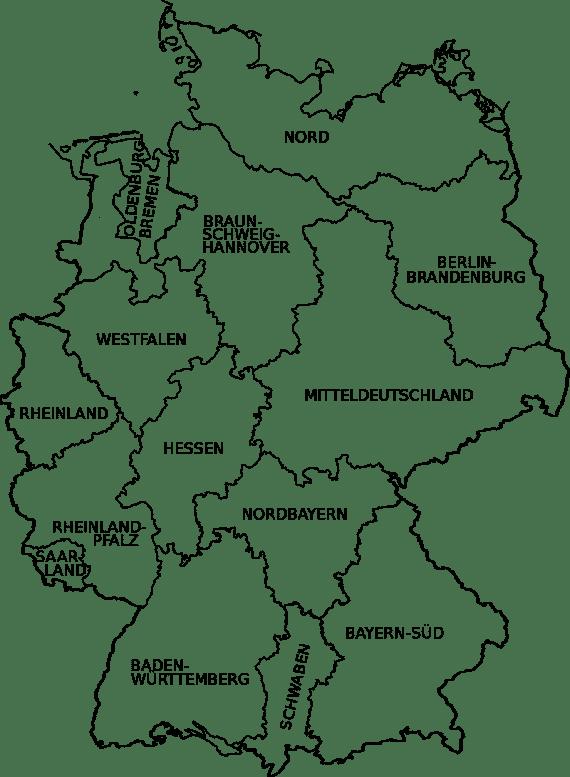 16 Regionalträger der Deutschen Rentenversicherung (Quelle Wikipedia)